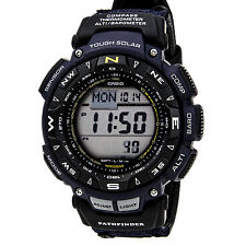 Casio Men's PAG240B-2CR Pathfinder Solar Powered Triple Sensor Blue Nylon W