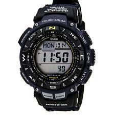 Casio Men's PAG240B-2CR Pathfinder Solar Powered Triple Sensor Blue Nylon Watch