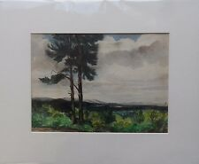 HAROLD WOOD 1918-2014 ORIGINAL SIGNED PAINTING 'VIEW ACROSS ASHDOWN FOREST' 1970