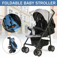 Foldable Baby Lightweight Stroller Adjustable 95~180° Compact Pushchair Travel