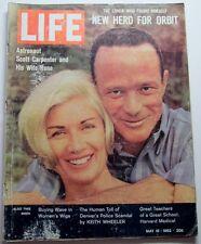 Life Magazine May 18, 1962 Astronaut Scott Carpenter Space Race Hoffa Picasso