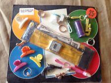 Vending Card 1980s Retro Clip Charm Bell Toilet Wrench Toothbrush Noisemaker