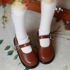 1/4 BJD Shoes MSD Dollfie DREAM student brown shoes Dollmore AOD DOD SOOM MID DZ