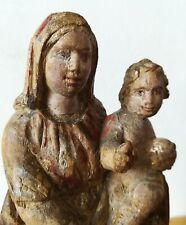 Vierge en bois sculpté 21 cm