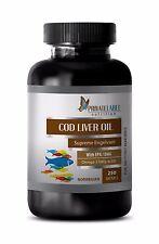 Brain memory pills - NORWEGIAN COD LIVER OIL - eye supplement organic - 1 Bottle