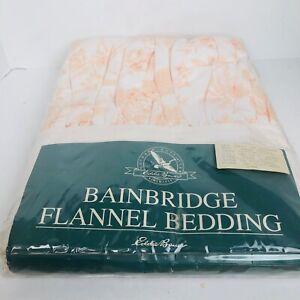 Vintage Eddie Bauer King Bedskirt Dust Ruffle 100% cotton Flannel cottage Core