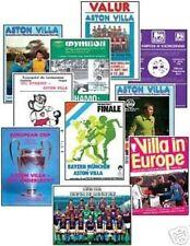 Away Teams A-B Aston Villa European Cup Football Programmes