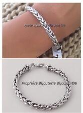 Bracelet Maille Palmier 19CM En Argent Massif 925/1000  Bijoux Femme Neuf