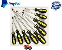 MAGNETIC SCREWDRIVER SET 9 PIECE TOOLS PRECISION MAGNETIC INSULATED SOFT GRIP