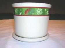Longaberger Holiday One Pint Crock/Candle holder