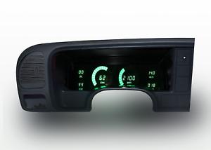 1995-1999 Chevy Truck Digital Dash Panel Cluster Gauges Green LEDs