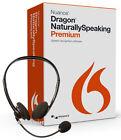 Nuance Dragon NaturallySpeaking Premium 13 w/ Headset - New Retail Box