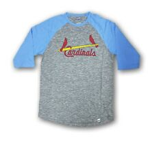"""St Louis Cardinals Men's Majestic Gray/Baby Blue 3/4's Sleeve """"SMITH"""" T-shirt"""