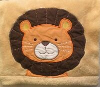 Tiddliwinks Yellow Lion Baby Security Blanket Lovey Yellow Orange Brown HTF