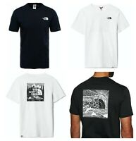 The North Face Mens Boxed Celebration T Shirt Printed Crew Neck 100% Cotton Tee