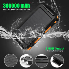300000mAh Solar Waterproof USB External Battery Power Bank Charger For Phone