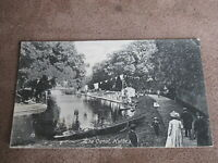 Early postcard - social scene - The Canal Hythe - With bunting - Kent