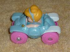 Fisher Price Little People Wheelies Cinderella Pumpkin Blue Car