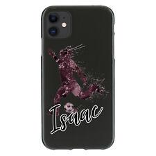 Caso De Teléfono Personalizado Para iPhone 11/12, cubierta de gel TPU inicial de mármol de fútbol