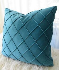 45CM X 45CM ** Dark Teal Softest Quality Velvet Home Decor Pillow Cushion Cover