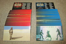 Star Wars Episode I Widevision Topps Card Sets Series 1 & 2 The Phantom Menace
