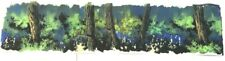 """Cadillacs and Dinosaurs 10"""" x 42""""  Production Hand Painted Background 1993"""
