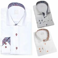 Button Cuff Striped Singlepack Formal Shirts for Men