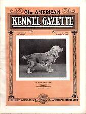 Vintage American Kennel Gazette July 1932 Cocker Spaniel Cover