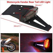 Motorcycle Fender Smoke Len Rear Tail LED Brake Lamp Turn Light Enduro Dirt Bike