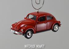 Classic Red Volkswagen Beetle Custom Christmas Ornament VW Bug Herbie Love 1/60