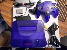 nintendo 64 N64 purple console system japan w/controller rare midnight blue