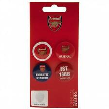 Arsenal FC Official Button Badge Set 4 Badges In A Display Bag Present Gift