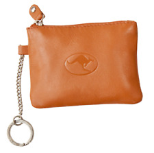 Australian Souvenir Leather Coin Purse Wallet Key Chain Ring Embossed Kangaroo