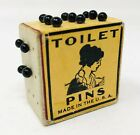 Vintage Small Cube Toilet Pins Made in USA Great Logo Flapper Antique KP21