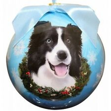 Border Collie Shatterproof Ball Dog Christmas Ornament