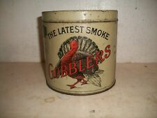 Rare Gobblers 3 for 5 cents Smoking Tobacco Cigar Tin Can Turkey Pennsylvania Pa