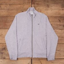 "Mens Vintage Lacoste Heather Grey Zip Up Sweatshirt Jumper Large 42"" R15650"