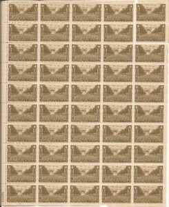 US Stamp 1945 US Army - 50 Stamp Sheet - #934