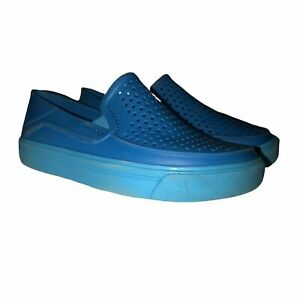 Crocs Iconic Comfort Blue Water Loafers 10