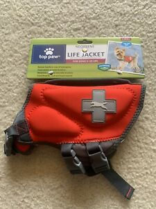 TOP PAW NEOPRENE LIFE JACKET FOR DOGS RED XS EXTRA SMALL 5-15 POUNDS TOY SIZE