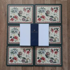 Pimpernel Passiflora Placemats Set Of 6 Vintage Boxed Flower Nature Floral RHS