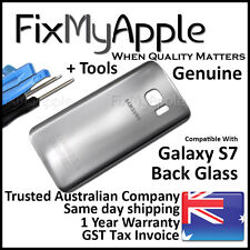 Samsung Galaxy S7 G930 Silver Back Glass Rear Cover Battery Housing Door Panel