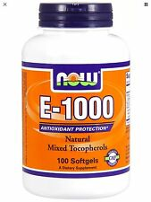 Now Foods E 1000 Natural 100 Softgels FAST 1st Class SHIPPING