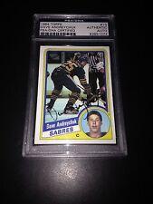 Dave Andreychuk Signed 1984-85 Topps Rookie Card Sabres PSA Slabbed #83851074
