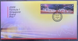 Singapore 2008 FDC cover Formula One F1 Stamps Set 1st Ever Night Race