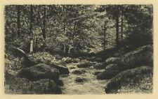Eduard Weichberger (1843-1913) : Waldbach. - Radierung/Weimar, 1905