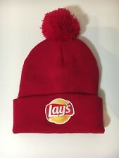 NEW NWOT LAYS CHIPS SMILE BEANIE HAT UNISEX RED