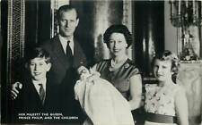 British royalty her majesty the queen prince philip and the children Postcard