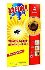 16 Vapona Window Sunflower Stickers Flies Fly Wasp Killer Trap Bug Catcher Pest