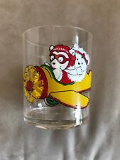 Set of 8:1987 Santa Bear Pilot And Miss Drinkware